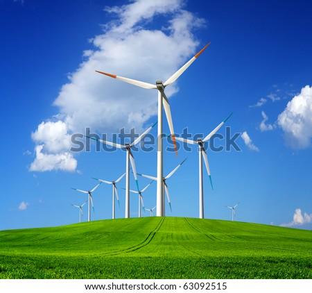 Turbines farm