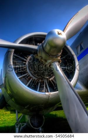 Turboprop engine closeup