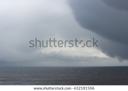 Turbulent Stormy Skies Over Yorkshire Coast in April.