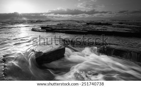 Turimetta Beach black and white