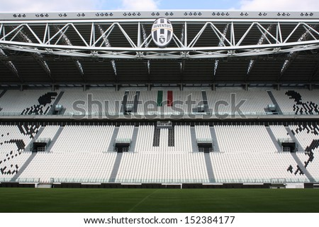 TURIN ITALY AUGUST 15 Juventus Stadium on August 15 2013 in Turin Italy Juventus stadium is home of Juventus football club
