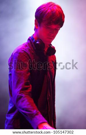 TURIN, ITALY - JUNE 08: James Blake DJ at Traffic Festival 2012 on June 08, 2012 Turin, Italy.