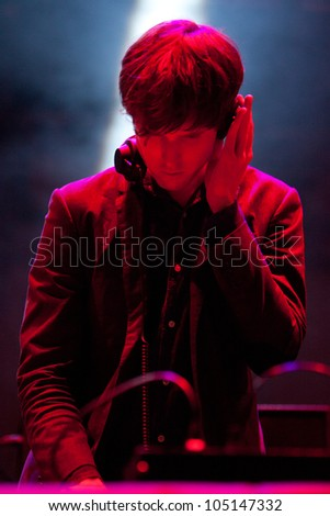 TURIN, ITALY - JUNE 08: James Blake DJ at Traffic Festival 2012 on June 08, 2012 Turin, Italy.