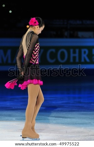 TURIN, ITALY - MARCH 28: Professional Japanese skater Mao ASADA performs final Gala during the 2010 World Figure Skating Championship on March 28, 2010 in Turin, Italy.