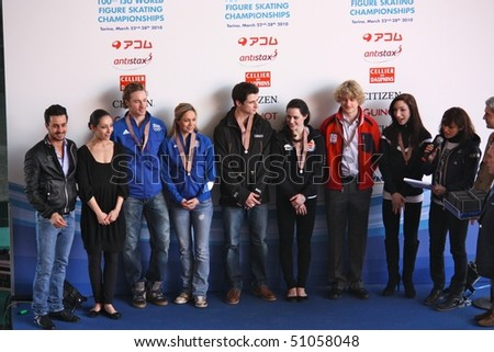 TURIN, ITALY - MARCH 27: 100th ISU World Figure Skating Championships, from from March 22 to March 28 2010, Turin, Italy.
