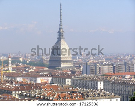 Turin panorama seen from the hill