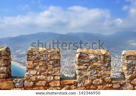 Turkey. Alanya Castle. View of the city from fortress