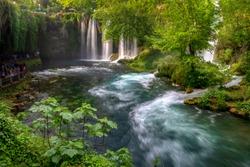 Turkey, Antalya, Duden Waterfalls picnic area.