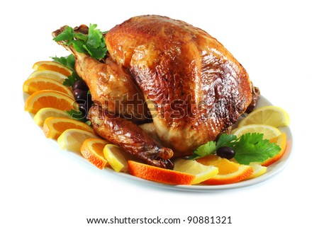 Turkey baked in the oven