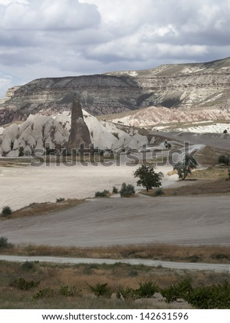 Turkey. Cappadocia. Unique landscapes, the ancient rocks, unusual dwellings of people in them. Fine place for travel, hikes and the photo.