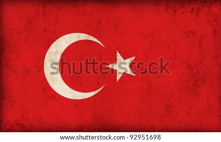 Turkey flag background - stock photo