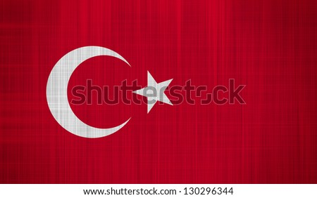 Turkey Flag with a fabric texture