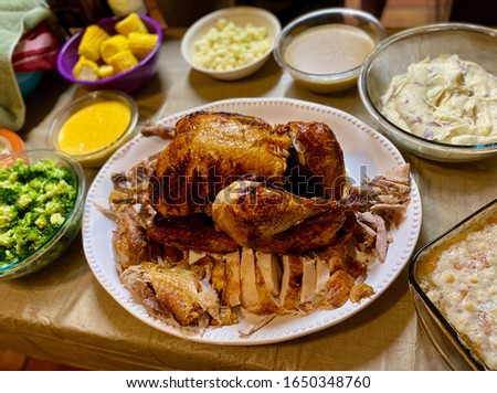 Turkey holiday dinner with sides