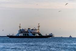 Turkey, Iistanbul strait and ferry