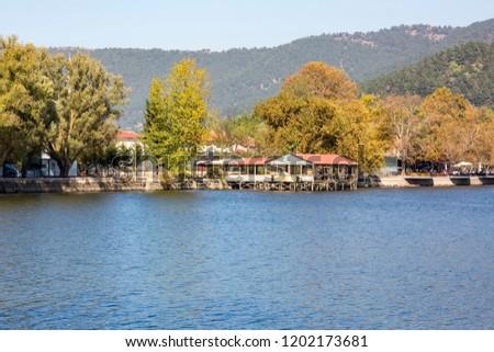Turkey / Izmir / Odemis - Golcuk, 10/08/2018, autumn lake landscape #1202173681