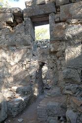 Turkey, Kemer, ancient city Faselis. Stone arch.