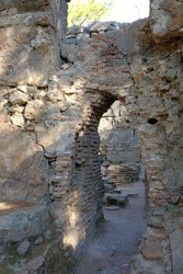 Turkey, Kemer, ancient city Faselis. Stone arch.