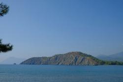 Turkey, Kemer, ancient city Faselis. View of the sea bay.