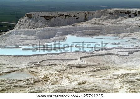 Turkey, limestone pools in the Unesco World Heritage site of Pamukkale