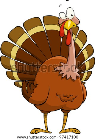 Turkey on a white background, raster