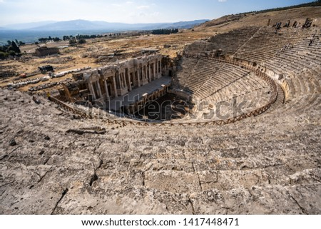 Turkey Pamukkale Hierapolis Ancient City #1417448471