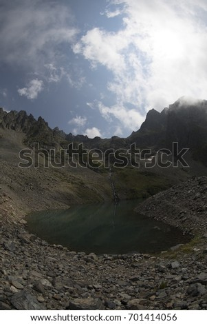 TURKEY - RIZE ; 22 AUGUST 2017, Landscape view of Kackar Mountains or simply Kackars, in Turkish Kackar Daglari or Kackarlar located in Rize, Turkey. #701414056
