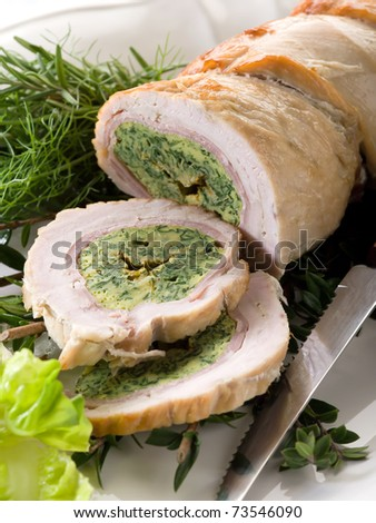 turkey roll filled