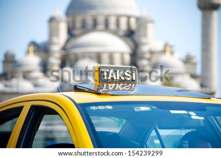 turkey taxi in Istanbul