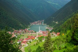 Turkey Trabzon Uzungol nature lake beautiful mosque