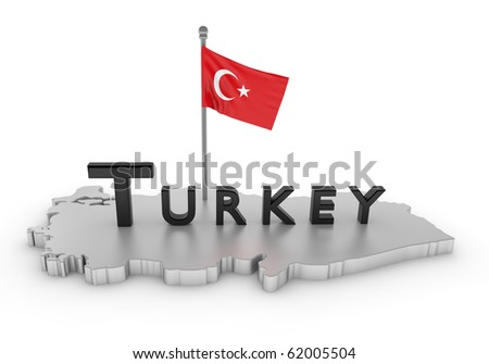 Turkey Tribute/digitally rendered scene with flag and typography