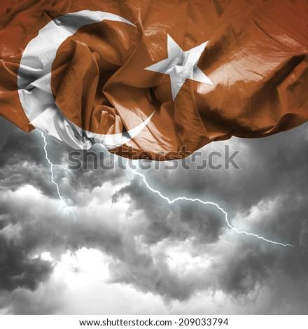Turkey waving flag on a bad day