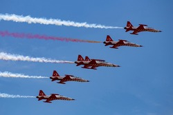 Turkish Airforce performing show in the sky