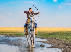 Turkish and ottoman costume horse riding archer