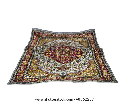 turkish carpet isolated on white background