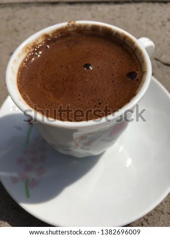 Turkish coffee caffeine chocolate drink #1382696009