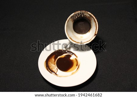 Turkish coffee horoscope. coffee grounds. fal bakma falcılık neyse halin çıksın falın Stock fotó ©
