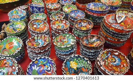 Turkish colorful porcelain bowls are a show of beautiful craftsmanship.