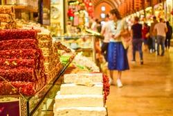 Turkish delight shop in the Spice Bazaar, Istanbul