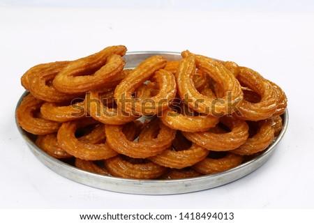 Turkish doughnut dessert - Fried Halka desserts with sugar syrup Stok fotoğraf ©