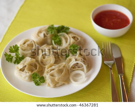 Turkish dumplings.
