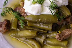 Turkish Food Olive Oil Dill / Olive Oil Broad Beans / Broad bean meal.