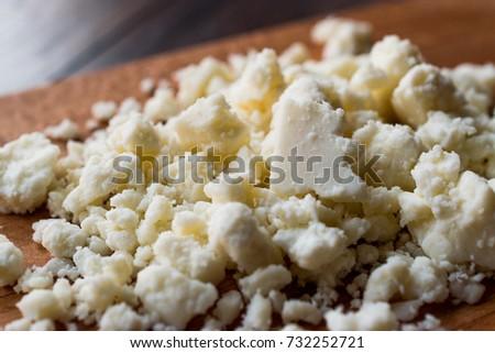 Turkish goat's milk cheese Tulum Peyniri / Cottage Cheese Stok fotoğraf ©