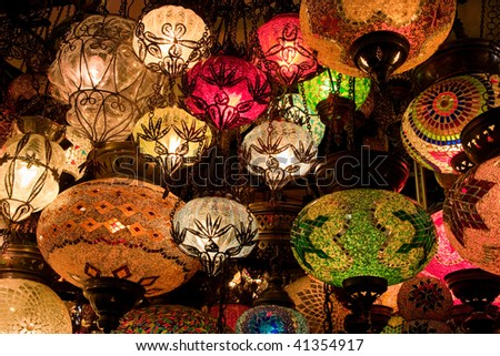 Turkish lamps in Grand Bazaar