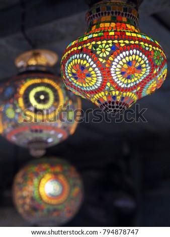 Turkish Lanterns .Stained glass lamp