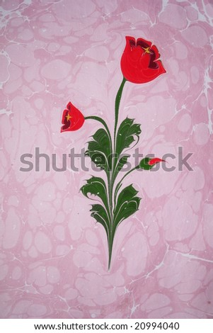 Turkish marbled paper artwork background