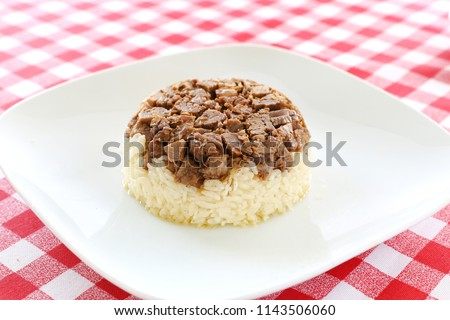 Turkish Meat Et Kavurma with rice / pilav