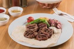 Turkish meatball traditional kofte. Spicy meatballs Kebab or Kebap.