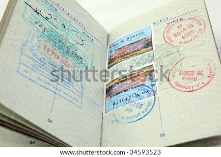 Turkish Passport - stock photo