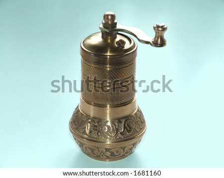 Turkish pepper grinder with clipping path