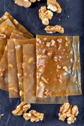 Turkish Pestil / Dried Fruit Pulp with Sesame and Walnut